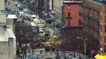 Firefighters, Police Clean Up Debris From NYC Building Collapse