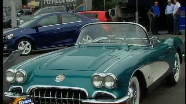 Talking to Corvette owners at the 2012 Woodward Dream Cruise