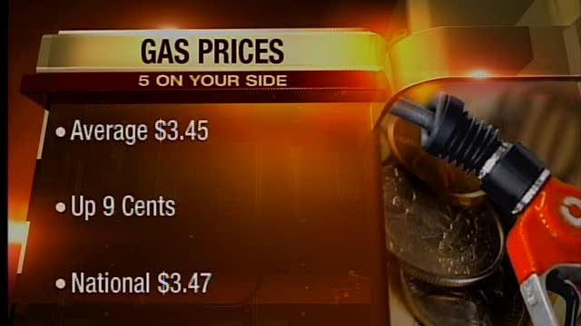 Noon: Gas prices up in Ohio