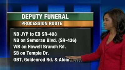 Deputy Coates' Funeral Procession Route