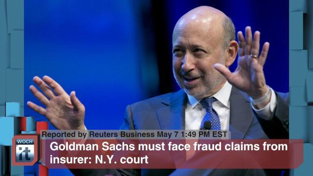 Goldman Sachs Must Face Fraud Claims From Insurer: N.Y. Court