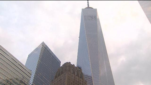 Falling Ice Closes Down Streets Near One World Trade Center