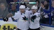 Joe Pavelski tallies twice in 21 seconds