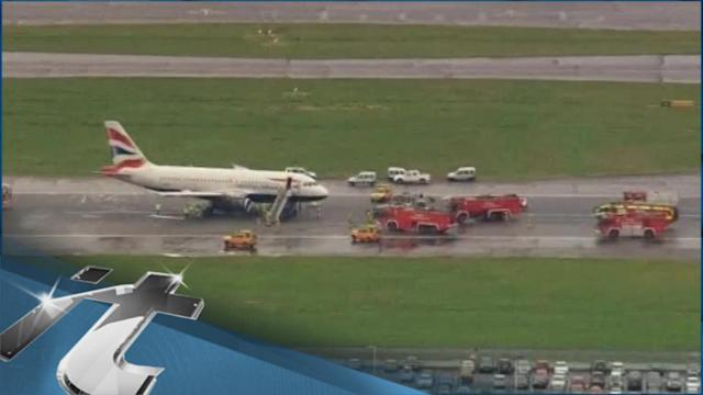 LONDON Breaking News: Delays After Passenger Jet Lands at Heathrow With Engine Fire