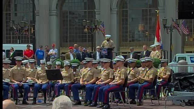 Marine Week proclamation ceremony