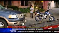 Motorcycle rider dies after running stop sign