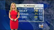 Jackie Johnson's Weather Forecast (March 30)