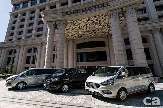 【圖一】福特旅行家(由左至右)長軸豪華版、長軸尊爵版、短軸豪華版尊榮登場。