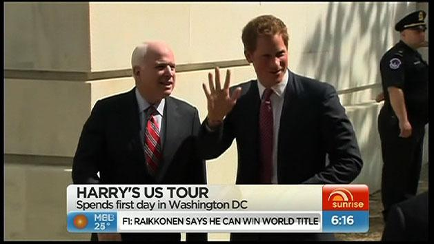 Prince Harry goes to Washington