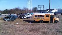 School Bus, Car Collide