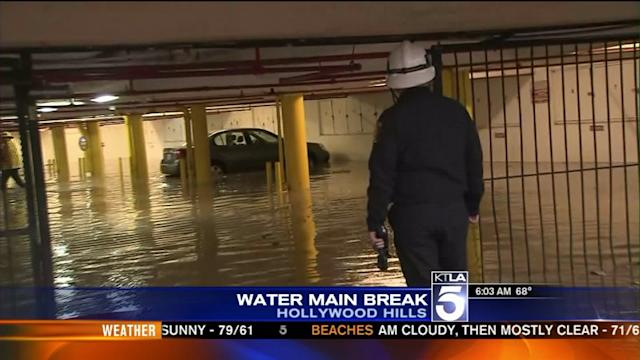 Water Main Break Creates Mess in Hollywood Hills