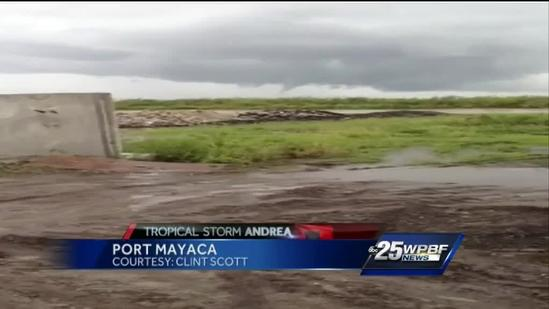 VIDEO: Funnel cloud spotted in Port Mayaca