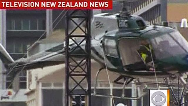 Dramatic chopper crash caught on tape
