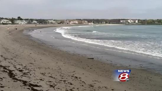 Storms reveal ancient stumps along Kennebunk Beach