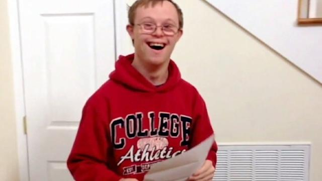 Boy With Down Syndrome Gets College Acceptance Letter