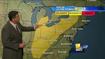 Tony: Warm, muggy weather to continue today