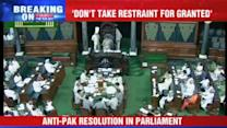 Unanimous resolution against Pakistan
