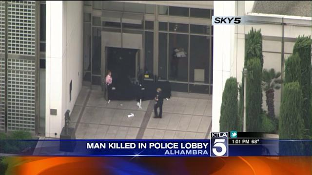 Man Shot, Killed in Lobby of Alhambra Police Department