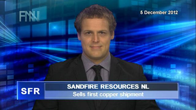 Sandfire sells first copper shipment