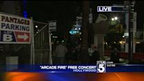 Huge Crowd Attends Arcade Fire Outdoor Concert in Hollywood