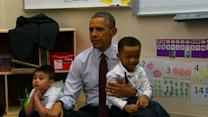 Raw: Obama Visits With DC Students