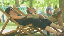 Britain bakes on hottest day of the year
