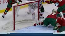 Justin Fontaine saves a goal
