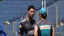 Pune Warriors in practice session