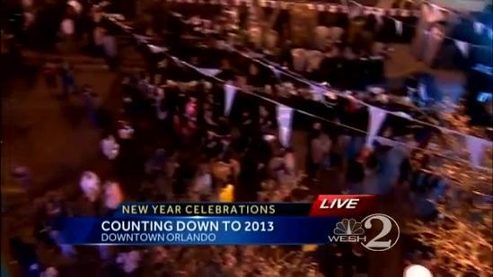 Thousands crowd downtown Orlando for New Year's Eve