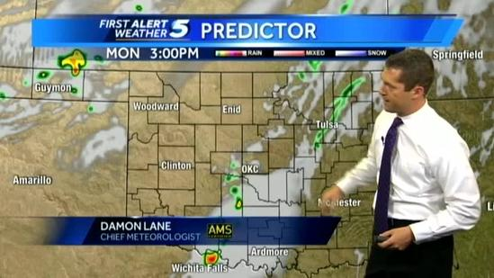 Damon's Monday severe weather outlook