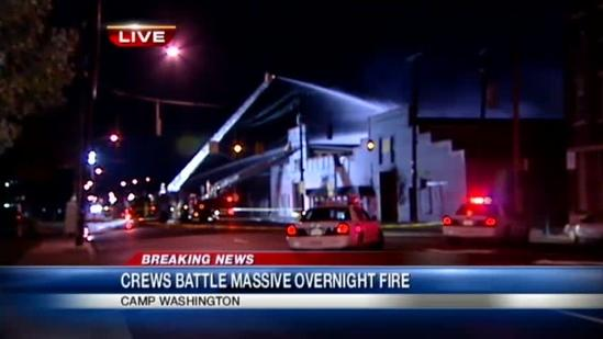 Fire causes $1 million in damage to Camp Washington business