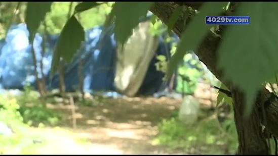 Railroad company plans to clear out the homeless camp on its property, forcing people to move