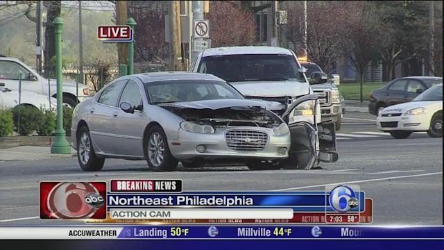 Officer, woman injured in crash involving Philadelphia police vehicle