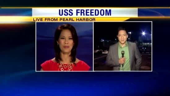 The USS Freedom arrives in Hawaii