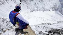Daredevil makes world's highest base jump from Mount Everest