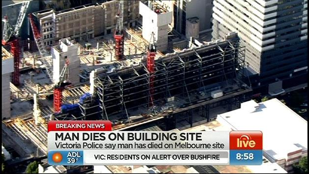Man dies on building site