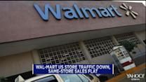Wal-Mart U.S. same-store sales flat, store traffic down