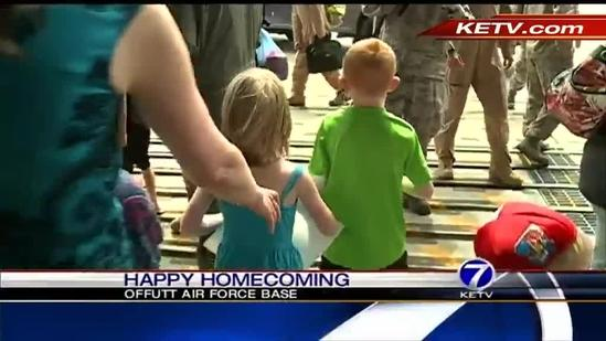 Airmen return home in time to celebrate Father's Day