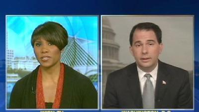 Gov. Walker Discusses Budget With 12 News