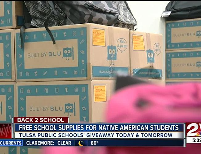 Tulsa Public Schools' Indian Education Program provides free school  supplies to Native American families
