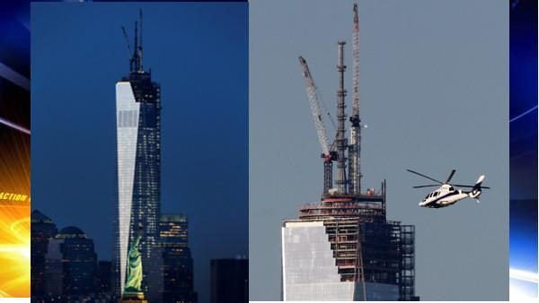 Last pieces of 1 World Trade Center are rising