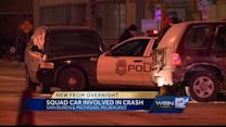 Milwaukee police squad in accident