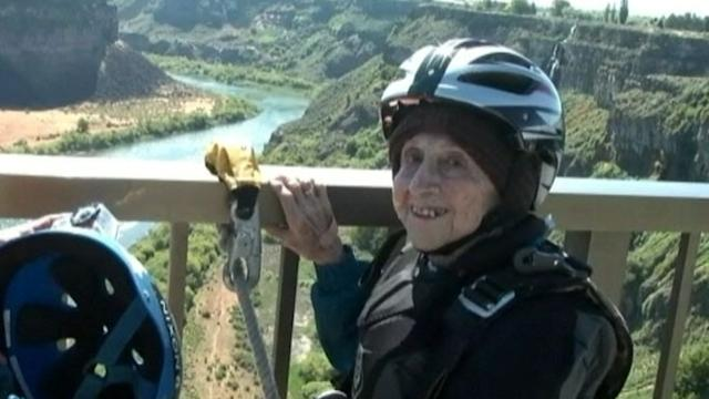 102-Year-Old Woman's Birthday BASE Jump