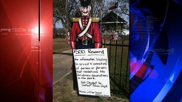 Reward offered in case of holiday display vandalism