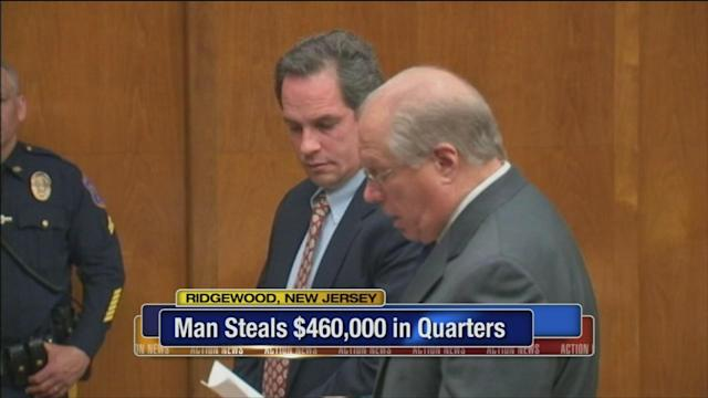 NJ man admits stealing 2 million quarters