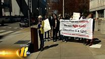 Students protest education cuts