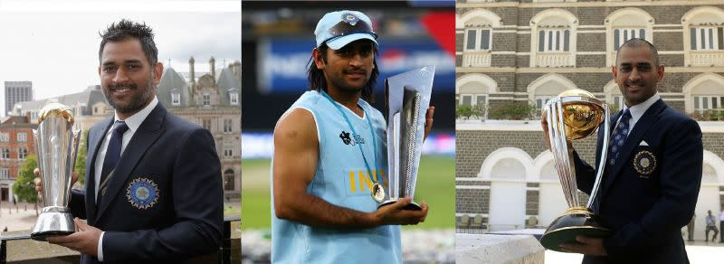Dhoni is the only skipper to win all three ICC trophies