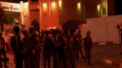 Raw: Protesters, Israeli Security Forces Clash