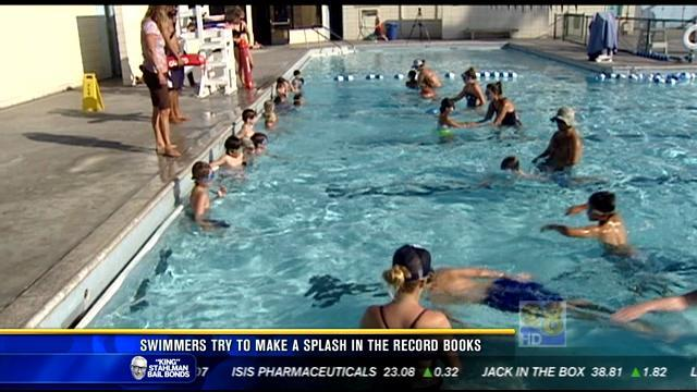 Swimmers try to make a splash in the record books