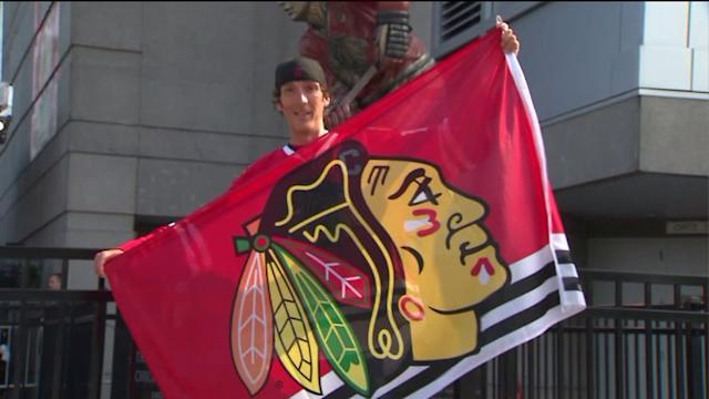 Most dedicated, hardcore fans cheer on Blackhawks